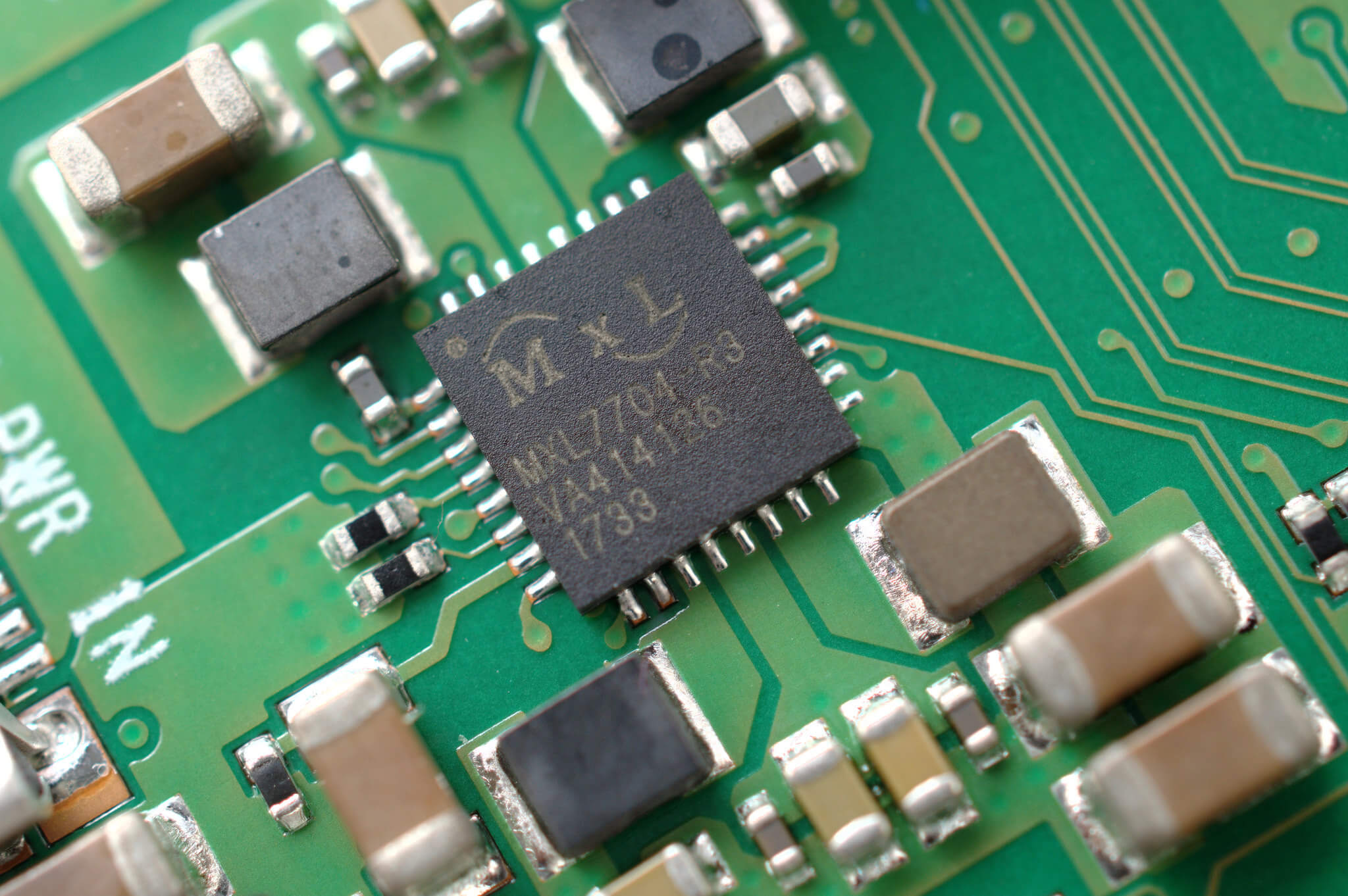 Close up Embedded system microchip